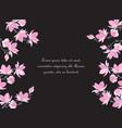magnolia flowers vector image