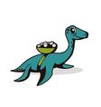 marine dinosaur vector image