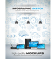 Modern Devices mockup with Concept background with vector image vector image