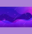 modern wavy gradient geometric background vector image