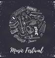 music festival poster vector image