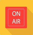 On air board simple flat vector image