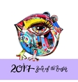 original design for new year celebration chinese vector image vector image
