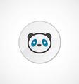 panda icon 2 colored vector image vector image