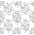 pattern set of dices and crowns on white vector image vector image