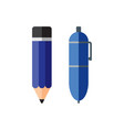 pencil and pen vector image vector image