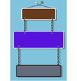 Placard and chain vector image