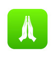 prayer icon digital green vector image