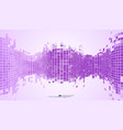 purple abstract background mosaic pixels vector image