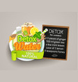 recipe detox cocktail-tealemongingerhoneymint vector image vector image