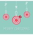 Red hanging christmas balls Target Dash line with vector image vector image