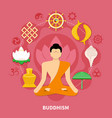 religions flat and colored composition vector image