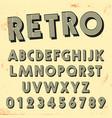 retro line font template set vintage letters vector image vector image