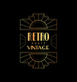 retro vintage party template vector image vector image