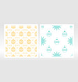 seamless pattern with christmas toy snowflakes vector image