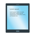 simple smart tablet flat icon with empty gradient vector image