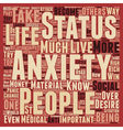 Status Anxiety text background wordcloud concept vector image vector image