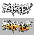 street graffiti lettering vector image vector image
