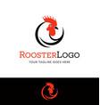 Stylized rooster head logo