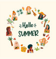 summer with cute women summer vector image vector image