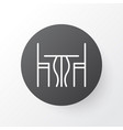 table icon symbol premium quality isolated dining vector image