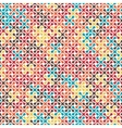 Tech colorful rounded meta balls seamless pattern vector image vector image