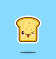 toast kawaii cute design flat cartoon icon vector image vector image