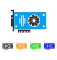 video gpu card icon vector image vector image