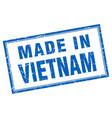 Vietnam blue square grunge made in stamp