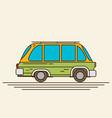vintage flat car vector image vector image