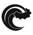 wave storm icon simple black style vector image vector image