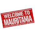 welcome to mauritania stamp vector image vector image