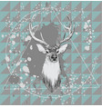 with deer head hand drawn vector image vector image
