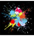 color paint splashes gradient background vector image