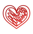 hand drawn heart love romance passion vector image