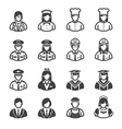 People Icons Occupation Icons vector image