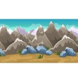 Cartoon Brown Mountains Background vector image