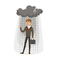 depressed businessman with briefcase standing in vector image