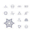 13 friendship icons vector image vector image