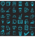 36 line icons collection for food vector image vector image