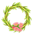 A round border with pink flowers vector image vector image