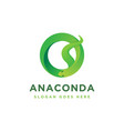 abstract geometric anaconda snake logo icon vector image vector image