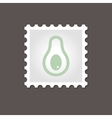 Avocado stamp Outline vector image vector image
