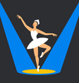 ballet dancer on stage ballerina dancing in the vector image