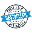 bestseller blue round grunge vintage ribbon stamp vector image vector image