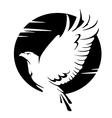 black and white eagle vector image vector image