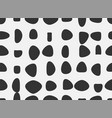 black and white print seamless pattern abstract vector image vector image