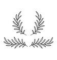 black olive branches wreaths with leaves vector image vector image