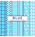 blue line seamless patterns print vector image