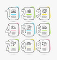 bus parking free delivery and airplane icons vector image